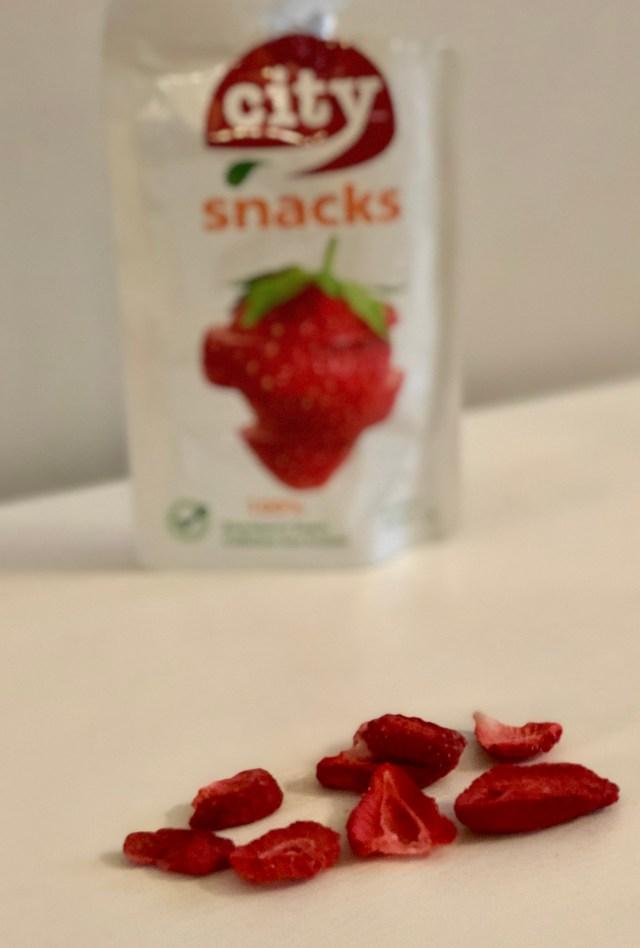 City Snacks dried strawberries