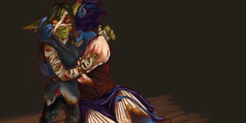 Nott and Jester artwork by @Cyborg_Cinders