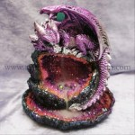 Purple Crystal Cave Baby Dragon Led Backflow Incense Burner