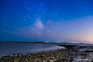 Startrails over Little Cormorant Rock