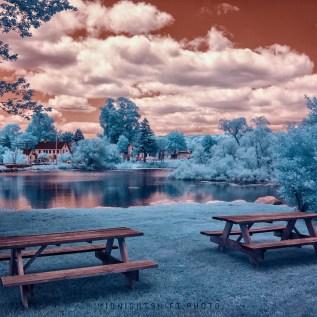 Grays Mill Pond in Infrared. Adamsville, Little Compton, Rhode Island