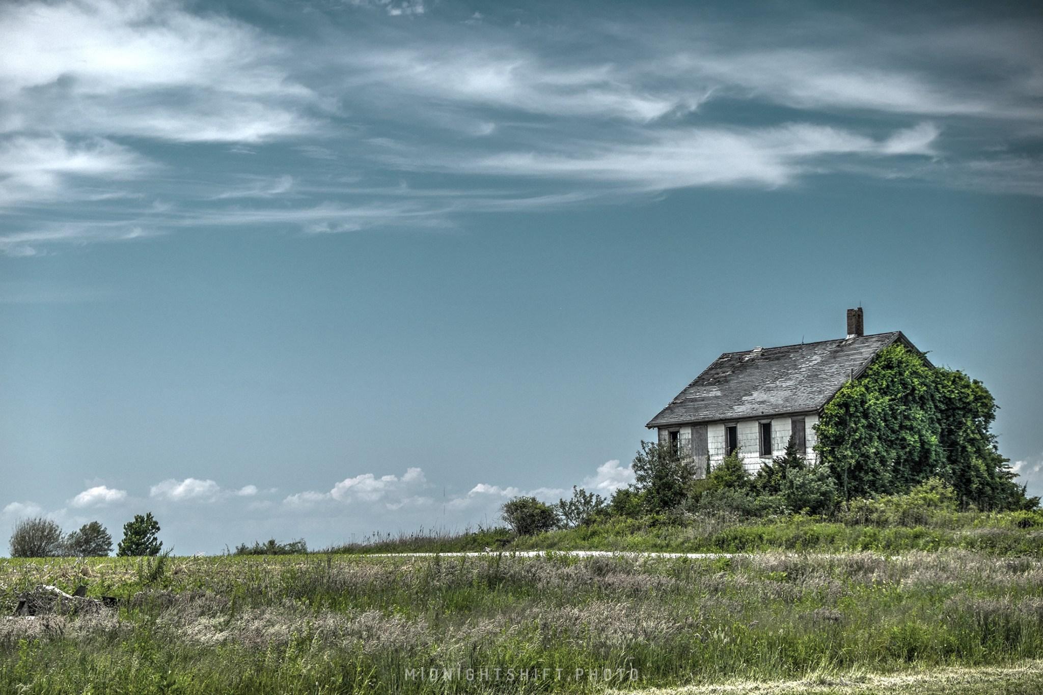 An old farmhouse in Westport, MA.