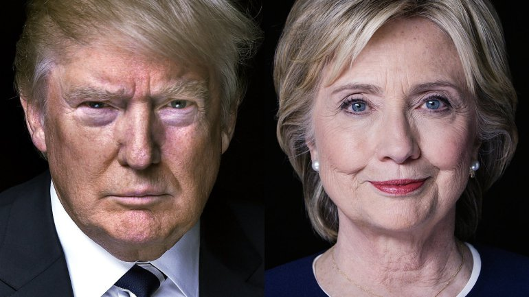 Image result for donald trump hillary clinton