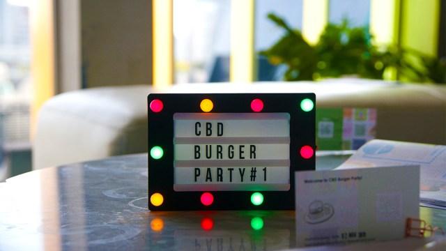 CBD-BURGERPARTYと表記された電子POP