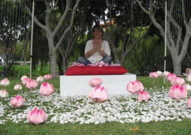 南半球最大のお寺、南天寺の蓮のフェスティバルのアートを担当