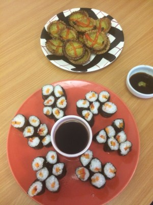 Sushi and vegetable tarts midorigreen.co.uk
