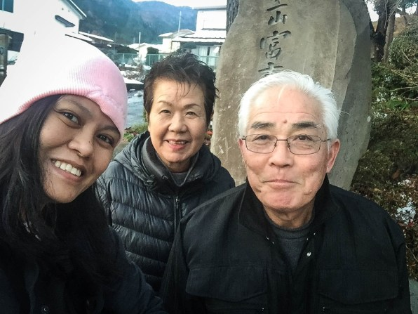 This sweet couple, Mr. and Mrs. Haneguchi, guided me until the entrance. I wanted to have a selfie with them so I'm glad they let me. :)