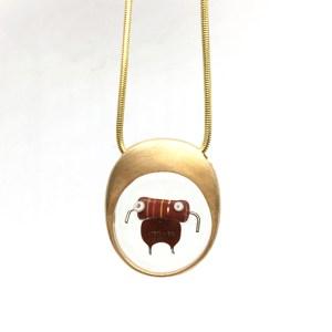 Midorj 1 - pendente in bronzo creato da Camilla Andreani per Midorj