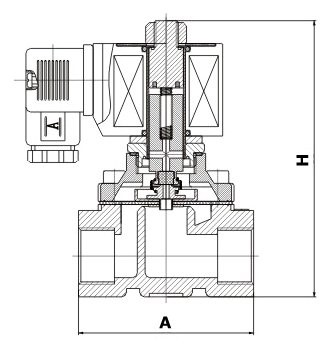 Solenoidový ventil série ZS