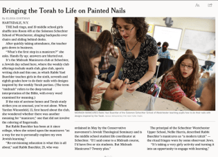 New York Times Nailart