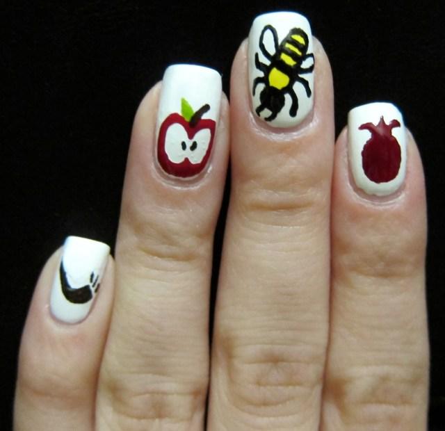 Rosh HaShanah Nail Art