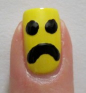 Emoticon nail art