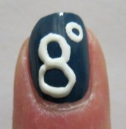 Polar vortex nail art