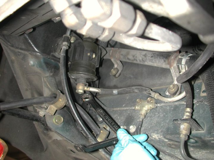 fuel line upgrade to an fittings and braided lines