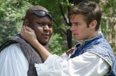 Julian Stroop as Mercutio and Brian Scannell as Romeo