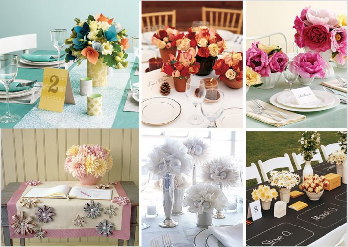 Paper Flower Centerpiece Ideas