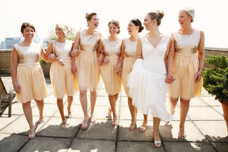 Wedding Trend: Sparkly Sequin Bridesmaid Dresses
