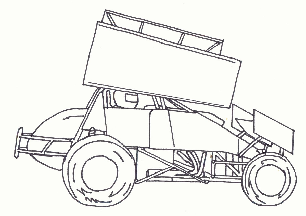Sprint Car Coloring Pictures