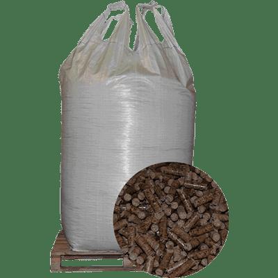 Egetræspiller i Bigbag med højbrændeværdi og lav askeprocent.