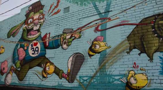 Just this month, the West 39th Street business district got a new mural celebrating the area.