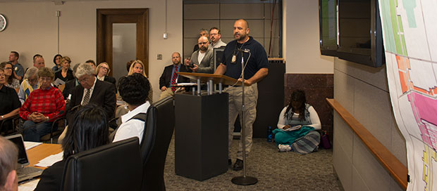 Central Patrol Police Office James Schriever voiced support for the renewal and expansion of the Main Street CID today.