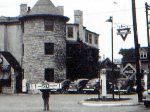 This unusual gas station, possibly converted from the home of H.D. Clark, stood at the corner at 33rd and Broadway. It is now a parking lot.