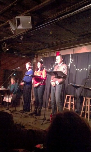 The 2014 cast of a Prairie Village Christmas Companion. The production returns this year.