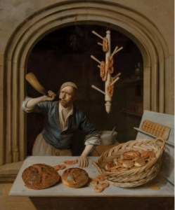 Job Adriaensz. Berckheyde, Dutch (1630-1693). The Baker, about 1681. Oil on canvas, 24 15/16 x 20 7/8 inches (63.3 x 53 cm). Worcester Art Museum (MA), Gift of Mr. and Mrs. Milton P. Higgins, 1975.105. Image © Worcester Art Museum