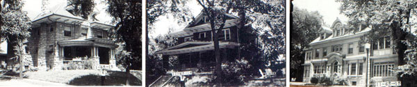 The Armour homes in 1940.
