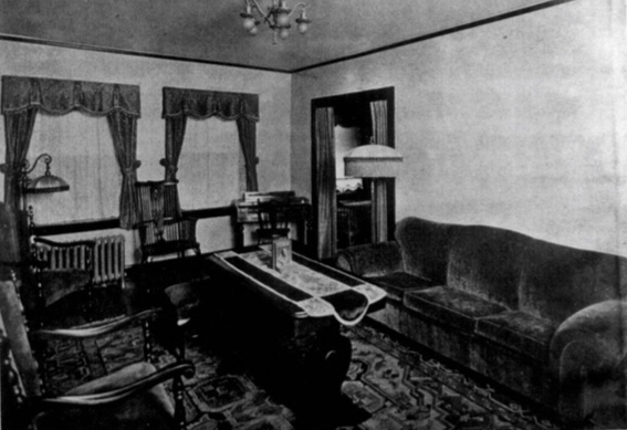 An interior view of a Newbern apartment from the 1940s.
