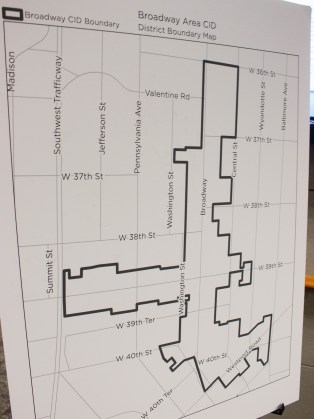 The boundaries of the proposed Broadway CID.