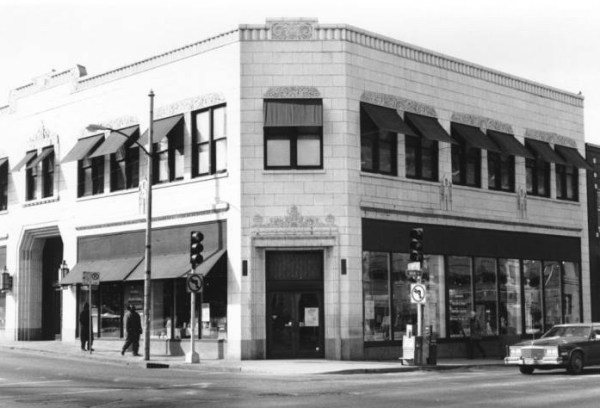 The block in 1993.