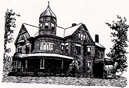 This Early Drawing Of The McGee Home Later Rochambeau Hotel Is One Few Publicly Available Images Important Mansion That Stood At 37th