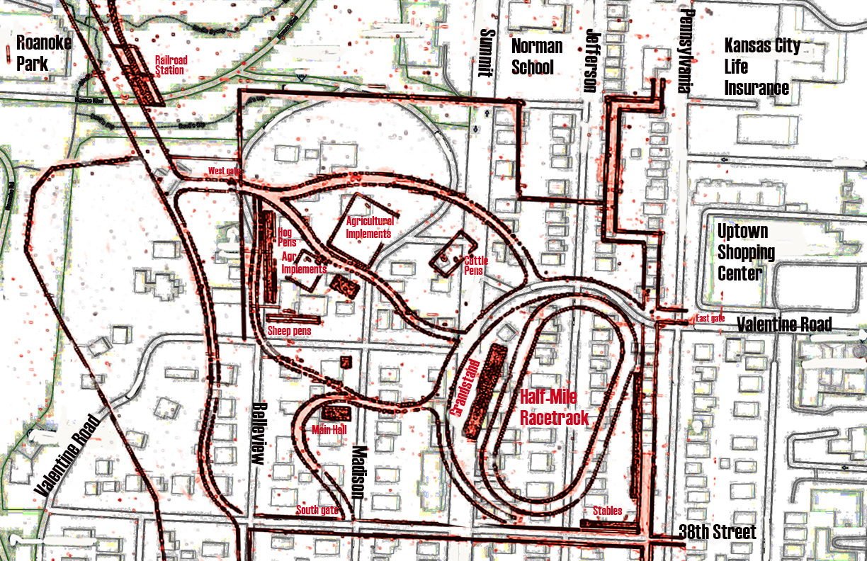 Map Shows Fairground Racetrack That Became Curve of Valentine Road on kansas city area casinos map, boston area road map, branson area road map, kansas city highway map, kansas state highway road map, western kansas road map, greenwood county kansas road map, calgary area road map, geary county kansas road map, oklahoma city road map, kansas city ks map, madison area road map, barton county kansas road map, kansas city rail map, kansas city mo map, kansas city metro zip code map, greater kansas city area map, kansas city street map, kansas city map with cities, kansas city google map,