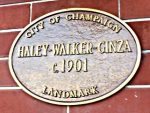 Champaign historic landmark apartment plaque
