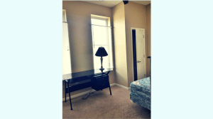 Large bedroom in updated campus apartment