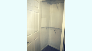 Large closet with built in storage