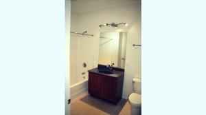 Large bathroom in a UIUC campus apartment
