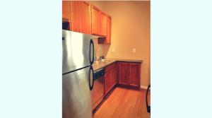 Updated campus apartment kitchen