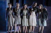The ladies of the Carmen company; Marta Fontanals-Simmons, Helen Sherman, Daisy Brown, Dawn Burns & Angharad Watkeys
