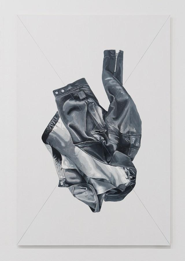 Jacket Panel (3), 2014. Acrylic and flashe on multiplex wood. 53 ⅛ x 35 ⅜ inches. © Mathew Gallery, Berlin - Photo, Gunter Lepkowski.