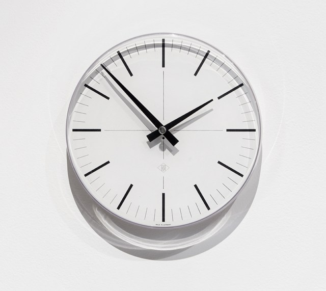 Untitled (Uhr), 2014. Telenorma wall clock, manufactured in Germany.
