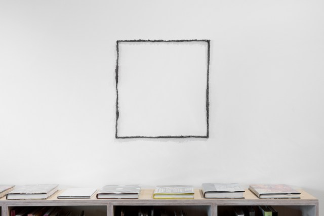 Untitled (Frame), 2013. Steel. 26 x 24 inches.