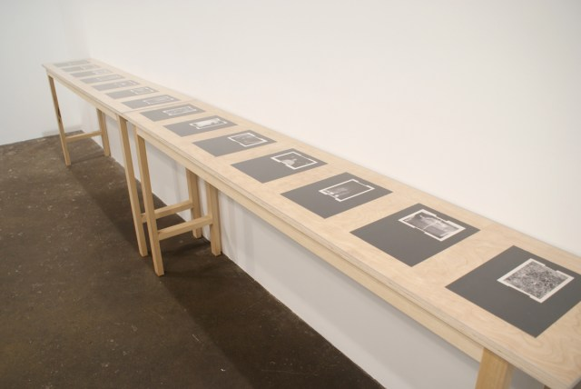 Shannon Ebner, Unstructured Book (for A.K.), 2007. Fourteen color xeroxes on newsprint. Dimensions variable. Courtesy of the artist and Wallspace.