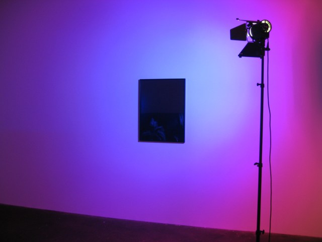 Un Bizzarro Sogno Tedesco (#1 Blue), 2008. Hedler C-Portrait digital, dichroic glass filter, digital silver gelatin print on Baryth paper. Edition: 1+1 AP. Private collection, Dallas.