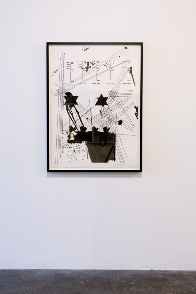 Untitled, 2007. Piezo print, Innova paper and India ink on paper. 40 inches x 32 inches.