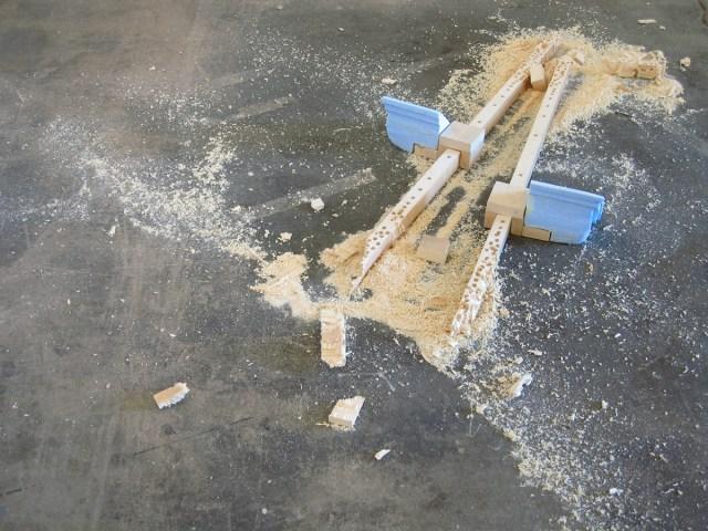 Blow, 2007. Polyurethane foam and wood.