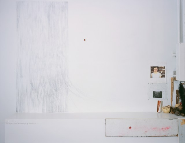 Amanda Eicher, What is square and what is round, 2003. Installation view.