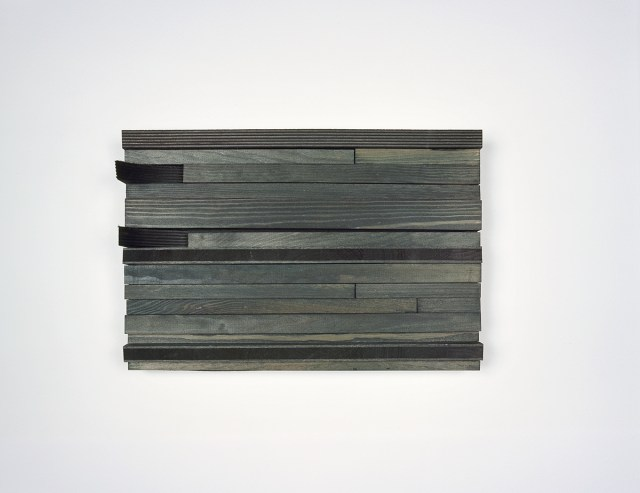 moll 2, 2005. Stain, acrylic paint, wood. 9 x 13 ½ x 3 ½ inches.