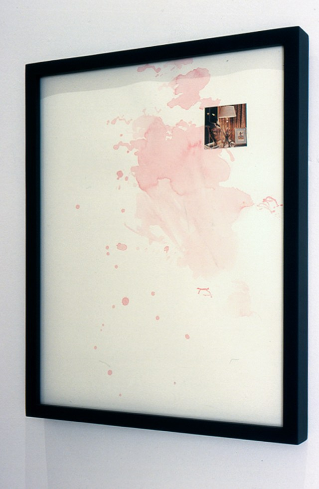 Patrick Hill, Untitled, 2001. Frame, paper, watercolor, collage.